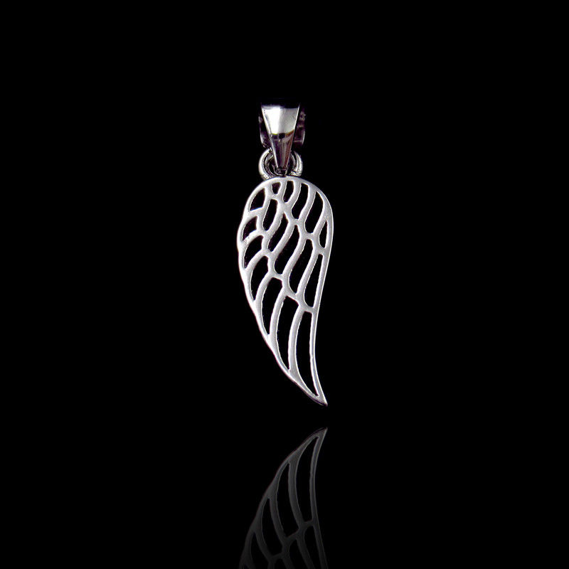 Fashion Plain Silver Pendant / Real 925 Silver Feather Pendant For European Women